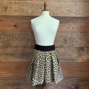 NWT Zara Leopard Print Skort